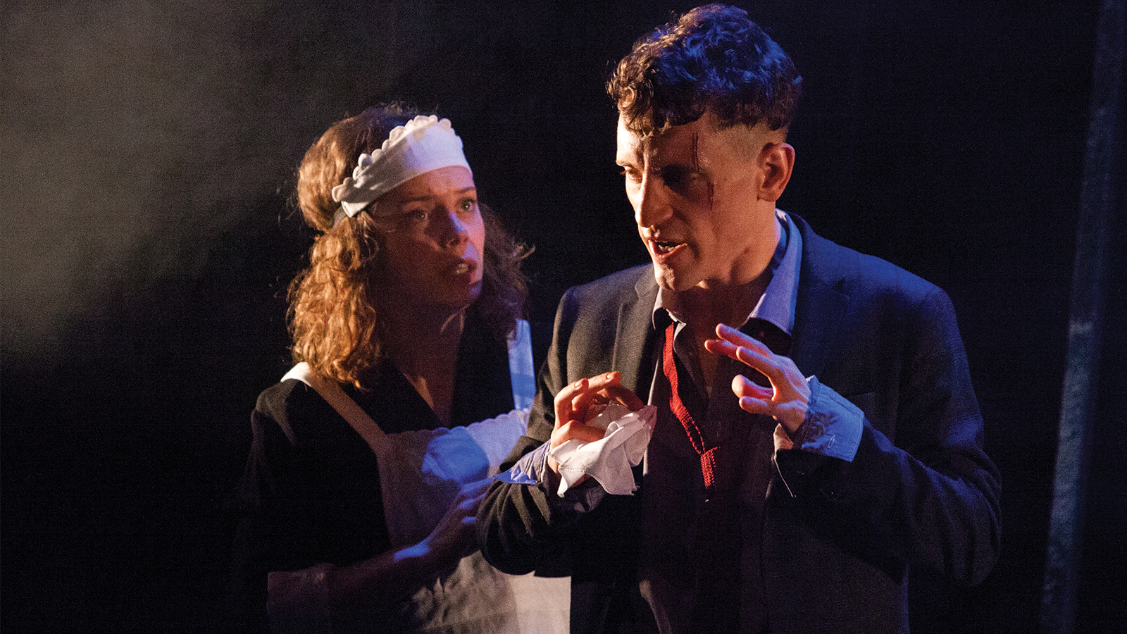 Sarah Middleton as Rose and Jacob James Beswick as Pinkie in Brighton Rock